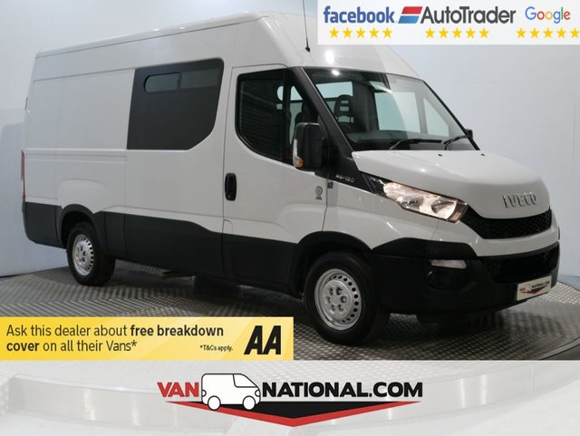 USED 2015 15 IVECO DAILY 2.3 35S13V 126 BHP WELFARE VAN (TOILET MESSING UNIT 8 SEATS)