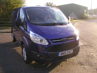 USED 2015 15 FORD TRANSIT CUSTOM 2.2 290 LIMITED LR P/V 124 BHP Van - SOLD Only 23000 miles, Air Con, Heated Seats, 6 Month Warranty