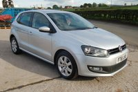 USED 2012 61 VOLKSWAGEN POLO 1.2 MATCH 5d 59 BHP 2012 VW VOLKSWAGEN POLO 1.2 PETROL MATCH 5 DOOR HATCHBACK 60 BHP BLUETOOTH PHONE FSH WARRANTY & FINANCE AVAILABLE