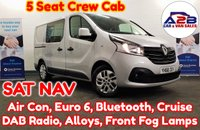 2018 RENAULT TRAFIC 1.6 DCi SPORT NAV CREW CAB 5 SEATS 120 BHP in Silver with 11,837 Miles, SATNAV, Air Conditioning, Bluetooth, Cruise Control, ISOFIX Rear Seats, DAB Radio, Euro 6, 3 Remote Keys, Alloy Wheels and much more £15480.00