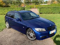 USED 2009 59 BMW 3 SERIES 3.0 325D M SPORT TOURING 5d AUTO 195 BHP Pan Roof 18In Alloys FSH Full Service History, MOT 09/20, Recently Serviced, X2 Keys, Unmarked 18' 313 Style M Sport Alloys, Le Mans Blue Metallic, Alcantara Interior, Opening Pan Roof With Electric Sunblind,  Very Very Tidy Example, X2 Owners, Auto Lights On, Auto Wipers, Dimming Mirror, X4 Elec Windows, Elec Mirrors, Torrneau Cover With Built In Dog Guard, Cruise Control, Shadowline Exterior Trim, X2 Keys, Full Carpet Mat Set, Extremely Straight + Clean And Tidy Example, Drives And Looks Absolutely Spot On, 18 Month W