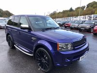 USED 2010 60 LAND ROVER RANGE ROVER SPORT 3.0 TDV6 HAWKE EDITION HSE 5d 245 BHP Met Blue with Cream perforated, many HAWKE Options inc Wheels