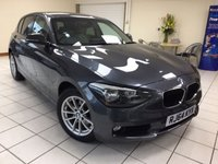 USED 2015 64 BMW 1 SERIES 1.6 116I SE 5d 135 BHP ONE OWNER / BMW SERVICE HISTORY / OYSTER DAKOTA LEATHER / BLUETOOTH PHONE CONNECTIVITY