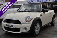 2014 MINI CONVERTIBLE 1.6 ONE 2d AUTO 98 BHP £6995.00