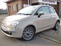 USED 2015 15 FIAT 500 1.2 LOUNGE 3d 69 BHP FULL FIAT SERVICE HISTORY & ONLY £30 A YEAR TO TAX