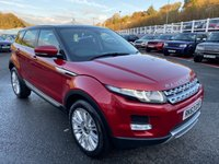 USED 2013 63 LAND ROVER RANGE ROVER EVOQUE 2.2 SD4 PRESTIGE 5d 190 BHP Firenze Red with Contrasting Black panoramic glass sunroof, Black Premium leather +