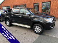 """USED 2014 14 TOYOTA HI-LUX 2.5 ICON 4X4 D-4D DCB 142 BHP USB & AUX Sockets         :         Phone Bluetooth Connectivity         :         Air Conditioning     Full Black Cloth Upholstery   :   15"""" Alloy Wheels   :   Service History"""