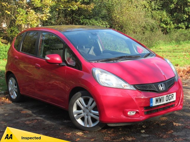 USED 2011 11 HONDA JAZZ 1.3 I-VTEC EX 5d 98 BHP * 1 OWNER * 12 MONTHS FREE AA MEMBERSHIP * 128 POINT AA INSPECTED *