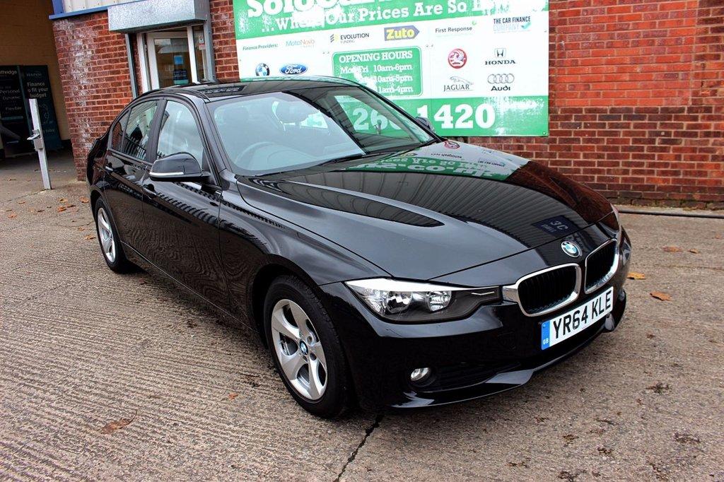 USED 2014 64 BMW 3 SERIES 2.0 320D EFFICIENTDYNAMICS 4d 161 BHP +ONE OWNER +FSH +SAT NAV.