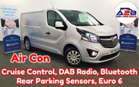2017 VAUXHALL VIVARO 1.6 CDTi 2900 SPORTIVE 120 BHP Euro 6 in Silver with Air Conditioning, Cruise Control, Bluetooth, DAB Radio, Rear Parking Sensors, Ply Lined, Front Fog Lamps and more £10980.00