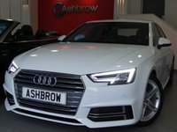 USED 2017 67 AUDI A4 1.4 TFSI S LINE 4d 150 S/S 1 OWNER, FULL AUDI HISTORY, BALANCE OF AUDI WARRANTY, SAT NAV, AUDI SMART PHONE WITH APPLE CAR PLAY & ANDROID AUTO, AUDI CONNECT, DAB RADIO, CRUISE CONTROL WITH SPEED LIMITER, LED DAYTIME RUNNING LIGHTS, BLUETOOTH PHONE & MUSIC STREAMING, FRONT & REAR PARKING SENSORS WITH DISPLAY, DIRECTIONAL SWEEPING INDICATORS, HEATED FRONT SEATS, 18 INCH TWIN 5 SPOKE ALLOYS, SPORT SEATS, LEATHER MULTIFUNCTION STEERING WHEEL, LIGHT & RAIN SENSORS, AUDI DRIVE SELECT, KEYLESS START, WIFI, AUX INPUT, 2x USB PORTS