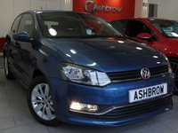USED 2015 15 VOLKSWAGEN POLO 1.2 TSI SE 3d 90 S/S FULL SERVICE HISTORY, 1 OWNER FROM NEW, £20 ROAD TAX (107 G/KM), BLUETOOTH PHONE & MUSIC STREAMING, DAB RADIO, AUX & USB, 15 INCH 10 SPOKE ALLOY WHEELS, FRONT CORNERING LIGHTS, GREY CLOTH INTERIOR, LEATHER FLAT BOTTOM MULTIFUNCTION STEERING WHEEL, AIR CONDITIONING, CD HIFI WITH SD CARD READER, ELECTRIC WINDOWS, ELECTRIC HEATED DOOR MIRRORS, ILLUMINATING VANITY MIRRORS, TYRE PRESSURE MONITORING SYSTEM, DIGITAL SPEEDOMETER, ISO FIX, FOLDING REAR SEATS, VAT QUALIFYING