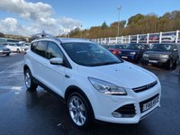 USED 2015 15 FORD KUGA 2.0 TITANIUM X TDCI 5d 148 BHP White, Black full leather, opening panoramic sunroof, 19 inch alloys, heated seats, DAB ++