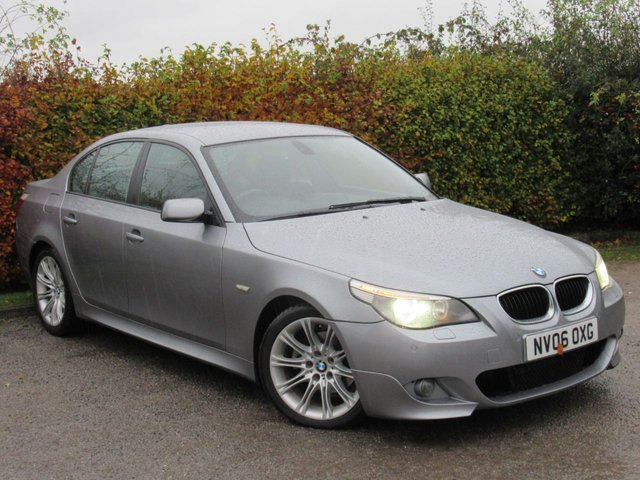 USED 2006 06 BMW 5 SERIES 2.0 520D M SPORT 4d AUTO 161 BHP FRONT & REAR PARKING SENSORS