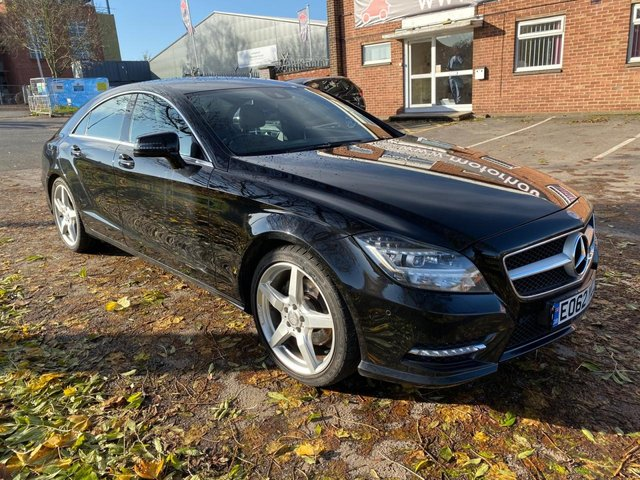 USED 2012 62 MERCEDES-BENZ CLS CLASS 2.1 CLS250 CDI SPORT AMG 4d AUTO 204 BHP STUNNING WELL MAINTAINED HIGH SPEC EXAMPLE IN A GREAT COLOUR WITH FULL SERVICE HISTORY SAT NAV. ALLOYS. CRUISE CONTROL. HEATED ELECTRIC LEATHER SEATS