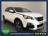 USED 2017 67 PEUGEOT 3008 1.2 PURETECH S/S ALLURE 5d AUTO 130 BHP FULL PEUGEOT HISTORY - 1 OWNER - SAT NAV - PARKING SENSORS - AIR CON - BLUETOOTH - DAB - CRUISE - HALF LEATHER