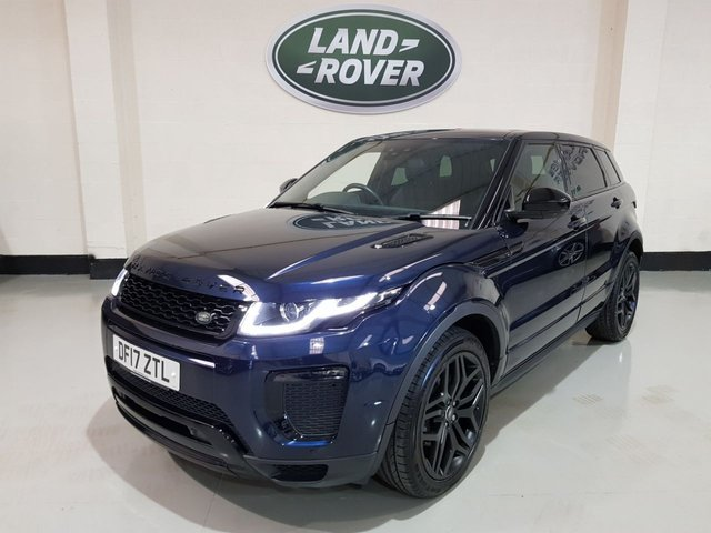 "USED 2017 17 LAND ROVER RANGE ROVER EVOQUE 2.0 TD4 HSE DYNAMIC 5d AUTO 177 BHP Heated Leather/Sat-Nav/Camera/Meridan/20"" Black Alloys"