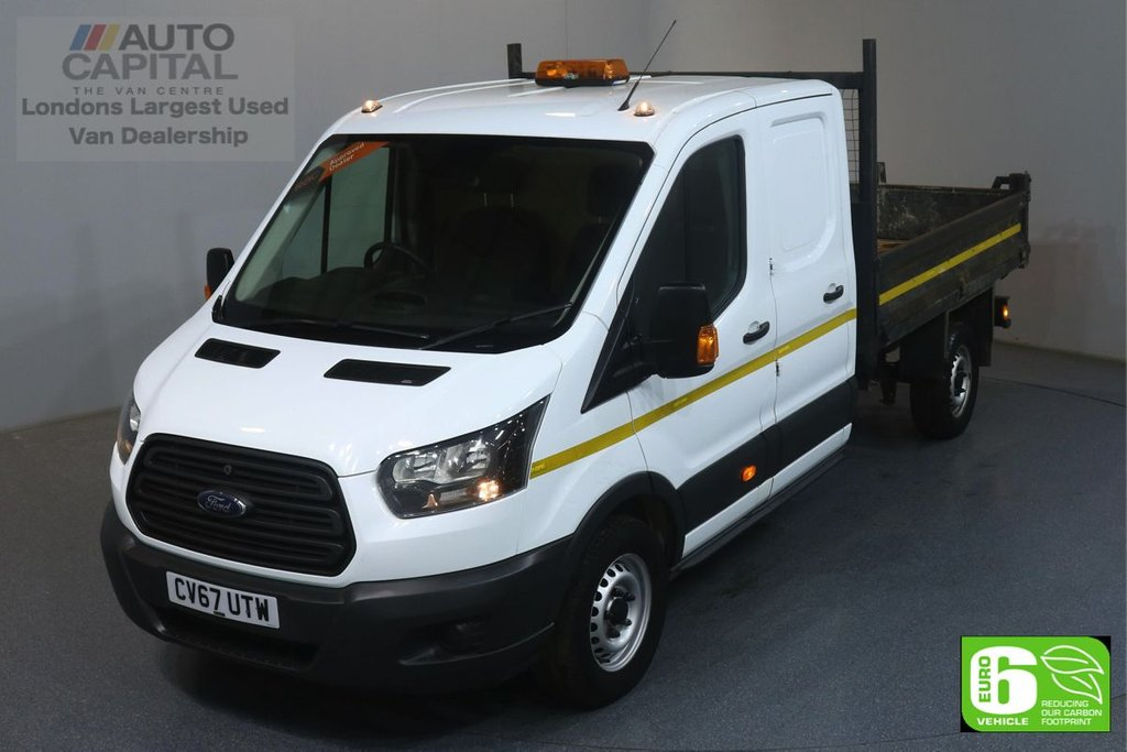 USED 2017 67 FORD TRANSIT 2.0 350 RWD L3 129 BHP EURO 6 ENGINE TIPPER DOUBLE CAB, ONE OWNER