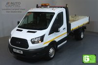 USED 2017 67 FORD TRANSIT 2.0 350 RWD TWIN WHEEL L3 129 BHP EURO 6 ENGINE TIPPER ONE OWNER, SERVICE HISTORY