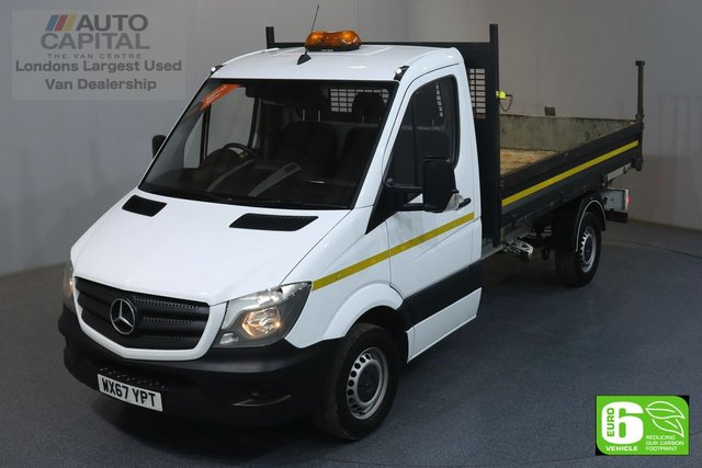 2017 67 MERCEDES-BENZ SPRINTER 2.1 314CDI 140 BHP MWB EURO 6 ENGINE DROPSIDE REVERSE CAMERA, ONE OWNER, REAR TOW FITTED