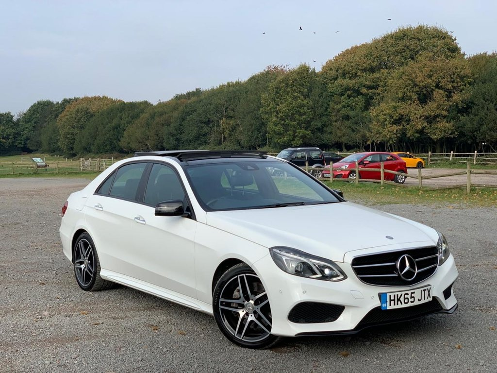 USED 2015 65 MERCEDES-BENZ E CLASS 3.0 E350 BLUETEC AMG NIGHT ED PREMIUM PLUS 4d AUTO 255 BHP TAILOR MADE FINANCE, X2 KEYS, POLAR WHITE  PREMIUM PLUS PACK UPDATED SAT NAV SYSTEM  FULL BLACK HEATED LEATHER KEYLESS ENTRY AND START  HARMON KARDON FULL ELECTRIC SEATS WITH 3 STAGE MEMORY REAR CAMERA  FRONT AND REAR SENSORS  XENON HEADLAMPS LED LIGHTS