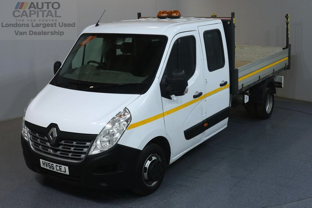 USED 2016 66 RENAULT MASTER 2.3 LL35 RWD BUSINESS 125 BHP TWIN WHEEL 7 SEATS TIPPER ONE OWNER FROM NEW