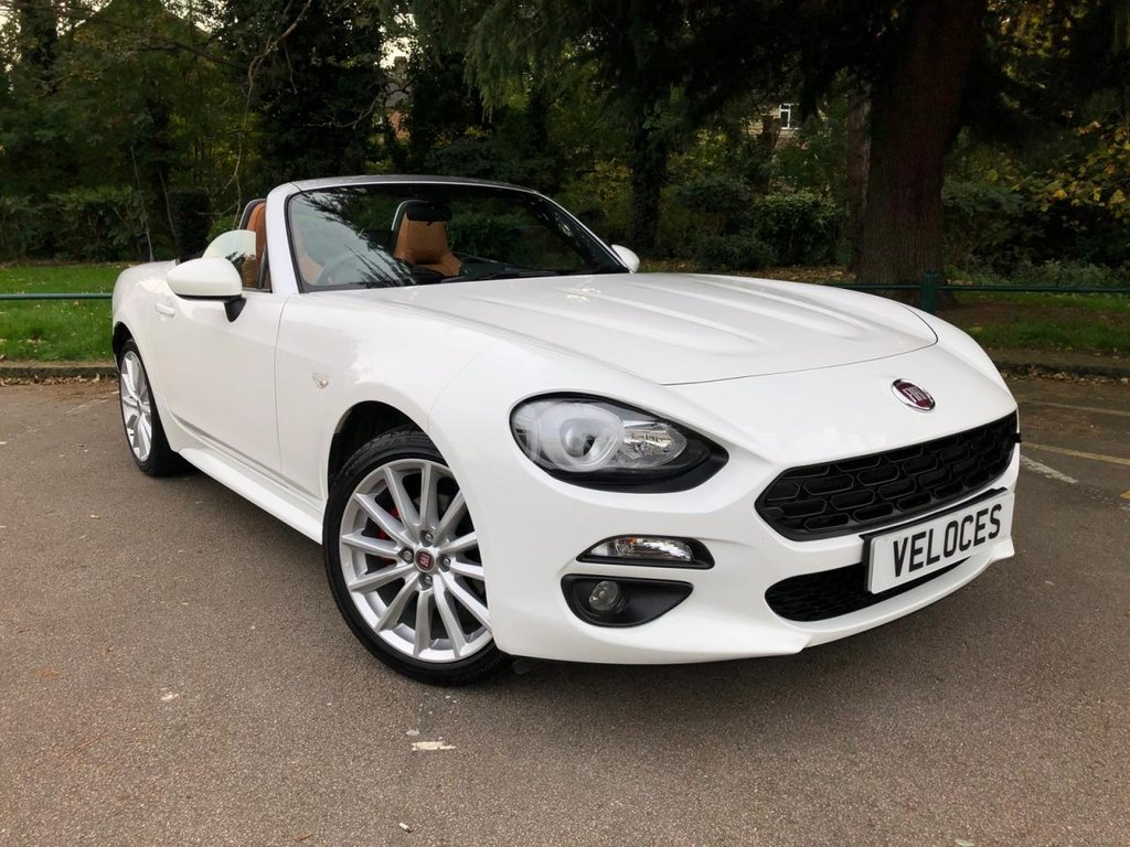 USED 2017 17 FIAT 124 1.4 SPIDER MULTIAIR LUSSO 2d 139 BHP BALANCE OF MANUFACTURES WARRANTY UNTIL 7/2020