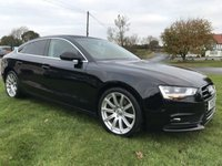 USED 2016 16 AUDI A5 2.0 TDI 190ps SPORTBACK TECHNIK SE BLACK LOW MILES