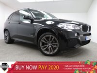 """USED 2014 63 BMW X5 3.0 XDRIVE30D M SPORT 5d AUTO 255 BHP Finished in a stunning AZURITE BLACK + 19"""" Msport alloy wheels + full black leather seats + HEATED SEATS + SAT NAV + DAB RADIO + DUAL CLIMATE CONTROL + AIRCON + FRONT AND REAR PARKING SENSORS + MULTIFUNTION STEERING WHEEL + PARKING SENSORS."""