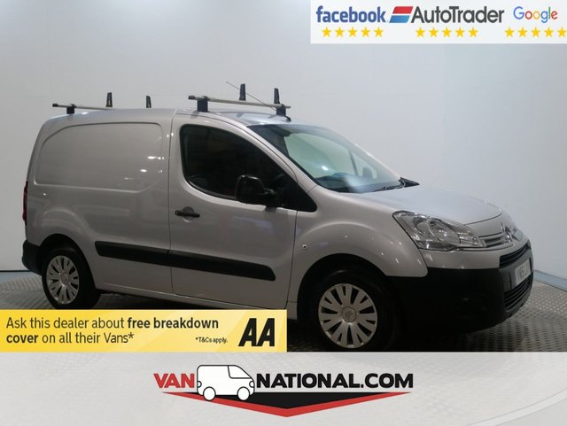 USED 2015 15 CITROEN BERLINGO 1.6 625 LX L1 HDI 75 BHP (LOVELY VAN READY TO GO) * 1 OWNER * F / S / H * 12 MONTH WARRANTIES AVAILABLE FROM JUST £199 * SAT NAV * ARMAPLATE COVERS * METALLIC SILVER PAINT *