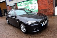 USED 2015 15 BMW 5 SERIES 2.0 520D M SPORT TOURING 5d 188 BHP +ONE OWNER +LEATHER +NAV +FSH.