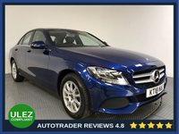 USED 2018 18 MERCEDES-BENZ C CLASS 2.0 C 200 SE 4d AUTO 184 BHP FULL HISTORY - SAT NAV - LEATHER - CAMERA - AIR CON - BLUETOOTH - DAB -CRUISE - CD PLAYER - CRUISE