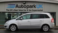 USED 2012 62 VAUXHALL ZAFIRA 1.6 DESIGN 5d 113 BHP LOW DEPOSIT OR NO DEPOSIT FINANCE AVAILABLE