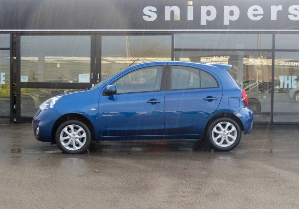 USED 2015 15 NISSAN MICRA 1.2 ACENTA 5d 79 BHP Lovely Low Mileage 5 Door Nissan Micra In Atlas Blue Metallic, Full Service History, Bluetooth Phone Integration, Engine Immobiliser,  Cruise Control, Electric Door Mirrors and Windows, USB Connection, Rain And Light Sensors, Rear Spoiler, Alloy Wheels, 2 Keys and Book Pack.