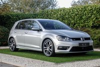 USED 2015 65 VOLKSWAGEN GOLF 2.0 R-LINE TDI BLUEMOTION TECHNOLOGY DSG 5d AUTO 148 BHP Finished in Metallic Silver with R-Line Embossed Alcantara Sports Seats and an Extensive Factory Specification this Super Eco Hatchback is Capable of Up to 68.9 Miles Per Gallon.  Specification Includes: HDD Satellite Navigation + Car-Net + Bluetooth Connectivity + USB / Multi Media Interface, Leather Flat Bottomed Multi Function Steering Wheel, Heated Electric Powerfold Mirrors, 18 Inch Alloy Wheels, Cruise Control, Privacy Glass, Front and Rear Park Distance Control, Climate Control, Autom