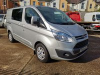 2014 FORD TRANSIT CUSTOM 290 LIMITED 6 SEAT CREW VAN 155 PS £11995.00