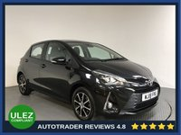 USED 2018 18 TOYOTA YARIS 1.5 VVT-I ICON TECH 5d AUTO 110 BHP FULL HISTORY - 1 OWNER - SAT NAV - REAR SENSORS - CAMERA - AIR CON - BLUETOOTH - DAB - CRUISE - USB