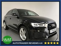 USED 2016 16 AUDI Q3 2.0 TDI QUATTRO S LINE PLUS 5d AUTO 182 BHP FULL AUDI HISTORY - 1 OWNER - REAR SENSORS - CAMERA - AIR CON - BLUETOOTH - DAB - CRUISE - PRIVACY - HEATED SEATS