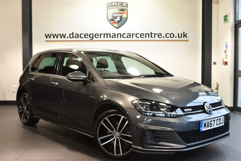 "USED 2017 67 VOLKSWAGEN GOLF 2.0 GTD TDI 5DR 182 BHP full service history Finished in a stunning metallic grey styled with 18"" alloys. Upon opening the drivers door you are presented with sport upholstery, full service history, satellite navigation, bluetooth, heated seats, virtual cockpit, cruise control, xenon lights, dab radio, climate control, usb/aux port, parking sensors"