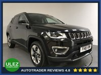 USED 2018 18 JEEP COMPASS 2.0 MULTIJET II LIMITED 5d AUTO 168 BHP FULL JEEP HISTORY - 1 OWNER - LOW MILES - PAN ROOF - SAT NAV - LEATHER - PARKING SENSORS - CAMERA - DAB - LANE ASSIST