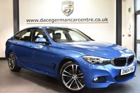 """USED 2015 64 BMW 3 SERIES GRAN TURISMO 2.0 320D M SPORT 5DR 181 BHP full bmw service history Finished in a stunning estoril metallic blue styled with 19"""" alloys. Upon opening the drivers door you are presented with full leather interior, full bmw service history, satellite navigation, bluetooth, cruise control, dab radio, sport seats, Multifunction  steering wheel, Automatic air conditioning, rain sensors, Fog lights, Light package, parking sensors"""