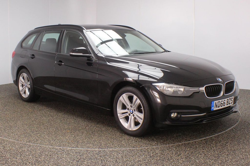 USED 2016 66 BMW 3 SERIES 1.5 318I SPORT TOURING 5DR SAT NAV LEATHER SEATS 1 OWNER 135 BHP FULL BMW SERVICE HISTORY + LEATHER SEATS + SATELLITE NAVIGATION + PARKING SENSOR + BLUETOOTH + CRUISE CONTROL + CLIMATE CONTROL + MULTI FUNCTION WHEEL + DAB RADIO + ELECTRIC WINDOWS + ELECTRIC MIRRORS + 17 INCH ALLOY WHEELS