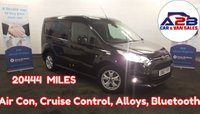 2017 FORD TRANSIT CONNECT 1.5 LIMITED 120 BHP in Black,  Euro 6, Low Mileage (20400), Air Con, Bluetooth Connectivity, Alloys, Cruise Control and much more £11980.00