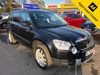 2013 SKODA YETI 1.2 ELEGANCE TSI DSG 5d AUTO 103 BHP IN METRALLIC BLACK WITH FULL BLACK LEATHER, AUTOMATIC, PETROL, 41000 MILES, 1 OWNER AND IS ULEZ COMPLIANT  £8299.00