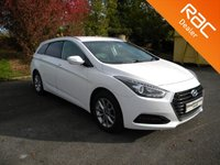 USED 2017 17 HYUNDAI I40 1.7 CRDI SE NAV BUSINESS BLUE DRIVE 5d 114 BHP Still Under Hyundai Warranty! Heated and Cooled Electric Leather Seats, Sat Nav, Alloy Wheels