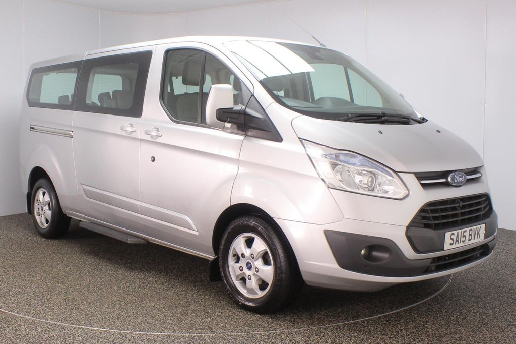 USED 2015 15 FORD TOURNEO CUSTOM 2.2 300 LIMITED TDCI 5DR 124 BHP 8 SEATS MINIBUS  SERVICE HISTORY + 8 SEATS + HEATED LEATHER SEATS + PARKING SENSOR + BLUETOOTH + CRUISE CONTROL + AIR CONDITIONING + MULTI FUNCTION WHEEL + DAB RADIO + ELECTRIC SEATS + RADIO/CD/AUX/USB + XENON HEADLIGHTS + ELECTRIC WINDOWS + ELECTRIC MIRRORS + 16 INCH ALLOY WHEELS