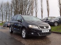 USED 2016 66 SEAT ALHAMBRA 2.0 TDI SE LUX 5d 150 BHP NAVIGATION SYSTEM + FULL LEATHER + REVERSE PARKING CAMERA + DAB RADIO + FULL SERVICE RECORD + BLUETOOTH + CRUISE CONTROL