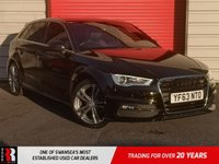 USED 2013 63 AUDI A3 2.0 TDI S LINE 5d 148 BHP LED LIGHTING & PRIVACY GLASS