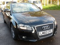 """USED 2011 60 AUDI A3 2.0 TDI SPORT 2d AUTO 138 BHP 3 OWNERS FROM NEW, 17"""" ANTHRACITE  ALLOYS, REAR PARKING SENSORS, 6 SPEED AUTO, FSH, ELECTRIC ROOF, £140 RFL,"""