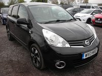 2013 NISSAN NOTE 1.5 N-TEC PLUS DCI 5d 89 BHP SOLD